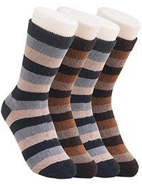 Vero Monte 4 Pairs Women Striped Modal Crew Socks  3183