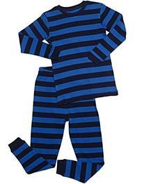 "Leveret Kids ""Boy"" Striped 2 Piece Pajama Set 100% Cotton"