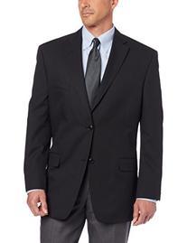 Haggar Mens Multi Bead Stripe 2 Button Center Vent Suit Coat