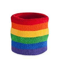 Suddora Striped Wrist Sweatband- Athletic Cotton Terry Cloth