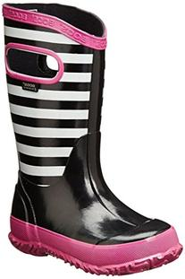 Bogs Kids Stripes Rain Boot , Black Multi, 12 M US Little