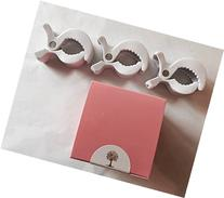 Stroller Accessories-3 Blanket Clips--Pink Gift Box & Tissue