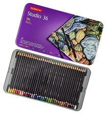 Derwent Studio Colored Pencils, 3.4mm Core, Metal Tin, 36