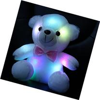 Wewill Stuffed Teddy Bear Toy with LED Night Light, 8-Inch,