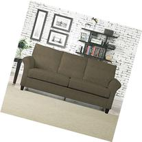 Better Living sturdy modern Mocha Brown Suede Rockford Sofa