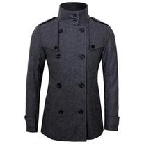 Tom's Ware Mens Stylish Fashion Classic Wool Double Breasted