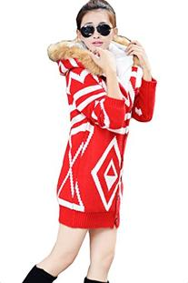 Pink Queen Women's Hot Stylish Long Zip Winter Christmas