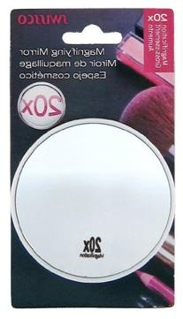 Swissco suction cup mirror. 20x magnification, 3 1/2''