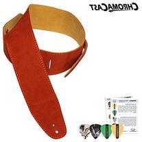 ChromaCast Burnt Orange Suede Strap with four pick sampler