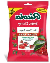 RICOLA Sugar Free Swiss Cherry Throat Drops,  45 Count