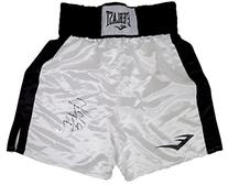 Sugar Shane Mosley Autographed White Everlast Boxing Trunks
