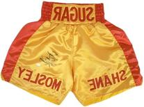 Sugar Shane Mosley Autographed Yellow & Red Custom Boxing