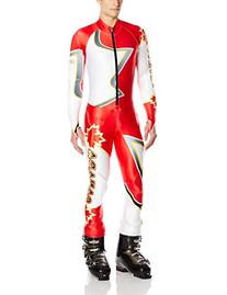 Spyder Men's Performance Suit, Volcano/White, X-Small