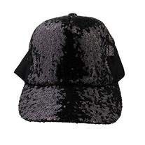 Eforstore Summer Fashionable Spangle Sequin Mesh Cap Couple