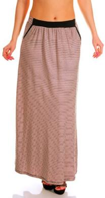 Glamour Empire Womens Summer Striped Full Length Jersey