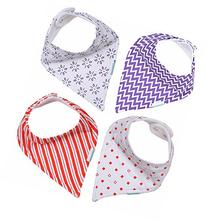 Super absorbant Set of 4 Bandana Drool Bibs For Babies in