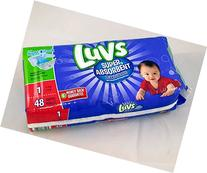 Luvs Super Absorbent Diapers with Nightlock Leakguards, Size