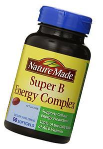 Nature Made Super B Complex Full Strength Mini Softgels 60
