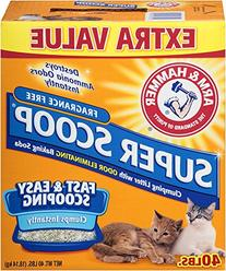 Arm & Hammer Super Scoop Litter, Unscented, 40 Lbs