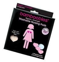 Bamboobies Super Soft Washable Nursing Pads - 3 Pair Ultra-