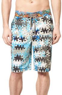 Men's Robert Graham Super Volcano Board Shorts, Size 34 -