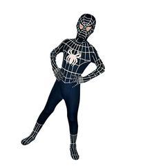 Wraith of East Kids Superhero Cosplay Black Bodysuit M