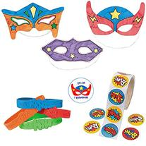 Superhero Party Favors for 12 - Super Hero Color-Your-Own