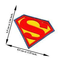 Superman Hero Superhero Movie Cartoon Dc Comic Logo Applique
