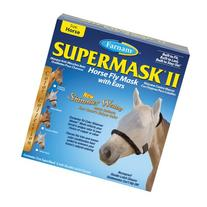 Farnam SuperMask II Fly Control Mask with Ears for Horses,