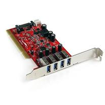 StarTech.com 4 Port PCI SuperSpeed USB 3.0 Adapter Card with