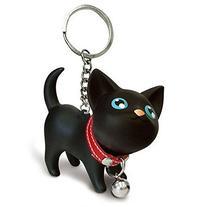 Suppion Cat Kitten Keychain Keyring Bell Toy Lover Key Chain