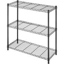 Whitmor Supreme 3-Tier Shelves, Black