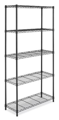 Whitmor 6070-267 Supreme 5-Tier Shelving System  Black