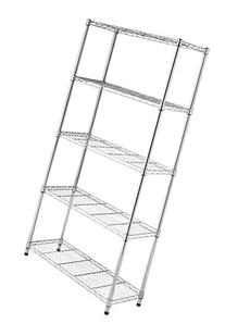 Whitmor Supreme 5-Tier Chrome Storage Shelves; Industrial