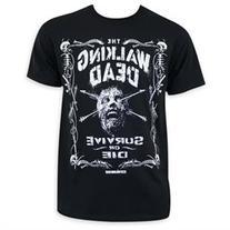 Walking Dead Survive Or Die Jack Daniels Style Tee Shirt