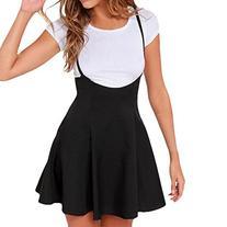 E.JAN1ST Women's Suspender Skirts Basic High Waist Versatile