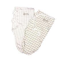 Ely's & Co Swaddle Blanket Adjustable Infant Baby Wrap Set 2