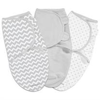 SwaddleMe 3-Pack Grey Chevron and Stars - Small