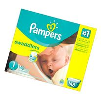 Pampers Swaddlers Diapers Size 1 Giant Pack 148 Count by
