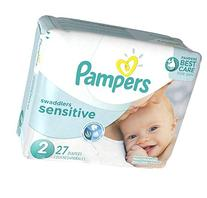 Pampers Swaddlers Sensitive Diapers Size 2 27 count