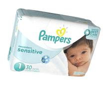 Pampers Swaddlers Sensitive Newborn Diapers Size 1, 30 Count