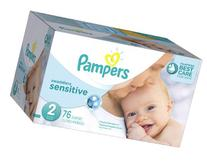 Pampers Swaddlers Sensitive Disposable Diapers Size 2, 76