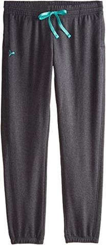 PUMA Women's Sweatpant Open, Dark Gray Heather, X-Large