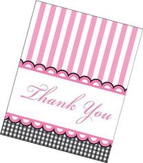 Creative Converting Sweet Baby Feet Pink Thank You Notes, 8-