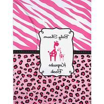 Amscan Sweet Safari Girl Baby Shower Party Keepsake Book, 6