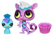 Littlest Pet Shop Sweetest Lemur #3130 and Peacock #3131