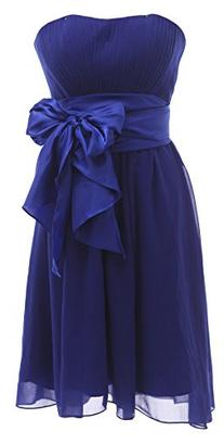 Ouman Sweetheart Bridesmaid Chiffon Prom Dresses Short
