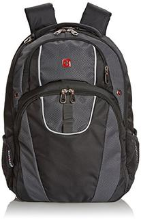 SwissGear SA6689 Black with Grey Computer Backpack - Fits