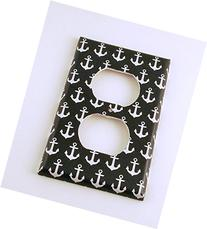 Outlet Switch Plate, Sail Away Navy Blue