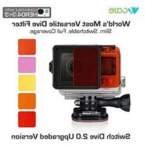 WoCase Switchable GoPro Lens Filter Set for GoPro HERO4 HERO